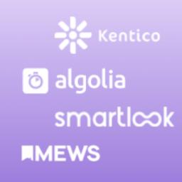 Kentico, Algolia, Mews, Smartlook