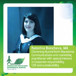 Katerina Boncheva, MA, Chevening Alumni North Macedonia