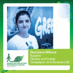 Desislava Mikova, Greenpeace BG